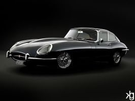Jaguar E-Type by VectorJones