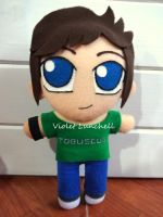 Tobuscus plushie by VioletLunchell