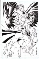 Dr.Fate and Hawkman commission by BroHawk