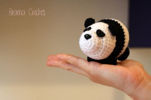 PANDA  Kawaii crochet amigurumi doll plush by BramaCrochet