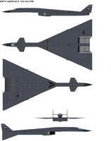 North American B-70A Valkyrie by bagera3005