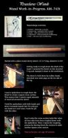 Twin Swans wand - WIP step by step by PraeclarusWands