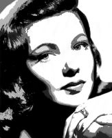 Gene Tierney - Vectored 2 by musicgal3