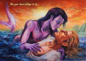 Mermen Loki and prince Thor by beckpage