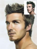 David Beckham by swankyportraits