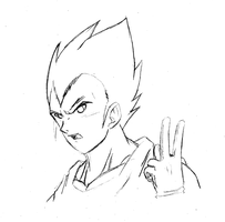 Vegeta - Akamatsu Sketch by RageVX