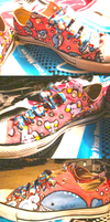 Wailord and Whismur shoes by MrsMuffet