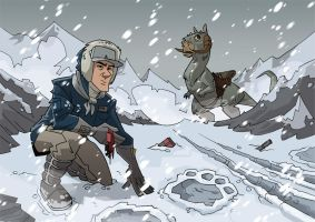 Han looking for Luke on Hoth by PatrickSchoenmaker