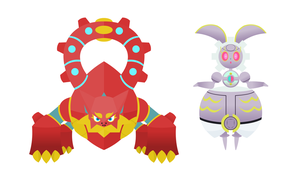 Volcanion and the Mechanical Magearna