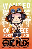 One Piece Chibi Ace by StarMasayume