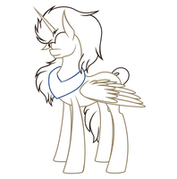 Alicorn Doctor Line Art by horserida238