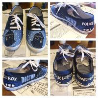 Customized Shoes- Doctor Who by sloppyjodi