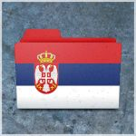 Serbian flag folder by vladimir0523