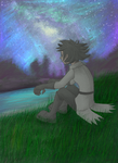 STARING OUT INTO SPACE. by KALMASIS