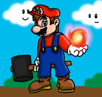 Super Mario - Red Fire by Adrik-the-Bat