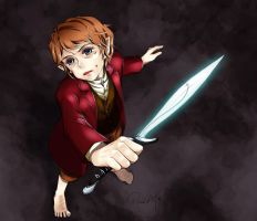 Bilbo with Sting by RedCAT18