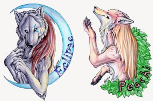 Lunar Epitaph badges by Lyanti