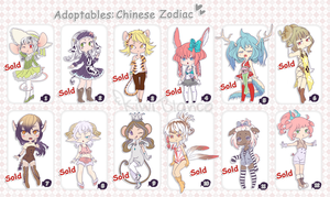Adoptables: Chinese Zodiac (Closed) by KiwiBlanco