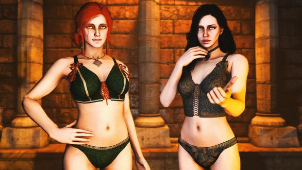 TW3:WH - Triss Merigold And Yennefer of Vengerberg by 12evenZ
