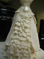 gumpaste doll dress by ohnoono