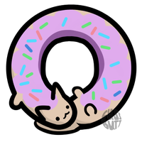 Donut Cat by fuzz-butt