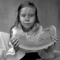 Sophia with watermelon. by vuda