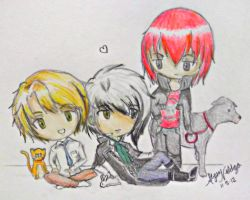 MCL : Nathaniel, Castiel and Lysander (Chibis) by Azn-Expo-Marker
