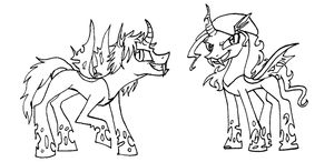 Bri and Lional Changelings by Briizer