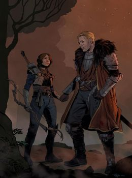 Inquisitor and Cullen by NickRoblesArt