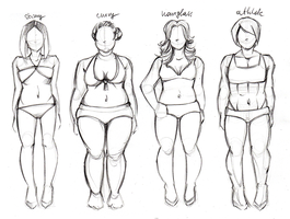 Body types excercise by MadBlackie