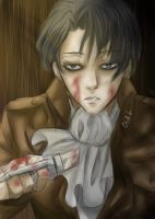 SNK - Lance Corporal Rivaille (Again) by mekanikarutenshi