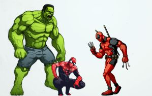 Deadpools Avengers by xashe
