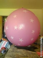 48 inch pink with stars by billoon45