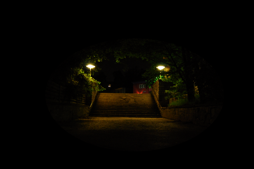 Lighted Stairs by silentia-dementia