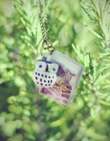 Owl and Book Fairy Tale Necklace by VintageLightJewelry