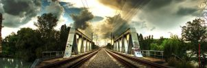 Railroad Bridge - Panorama by MironV