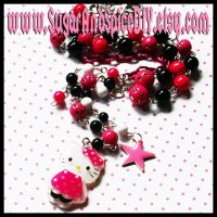 Hello Kitty Bead Necklace by SugarAndSpiceDIY