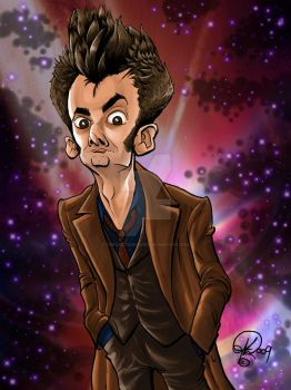 David Tennant The 10th Doctor by TheCartoonLoon