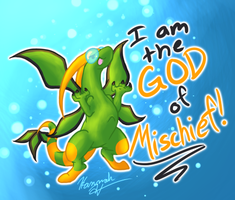 I am the GOD of MISCHIEF by Blemy