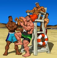 Who saves a lifeguard?  (M/M) by KitELcat