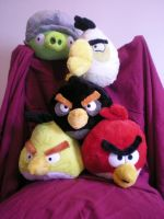 Angry plushies by Blorosa