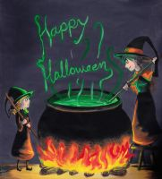 Willow and wendy Halloween by FullmetalDevil