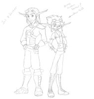 Jak and Daxter by KatChan00
