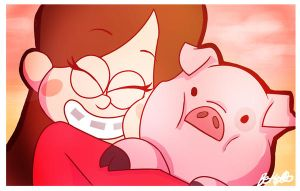 Mabel and Waddles by bethwhowishes