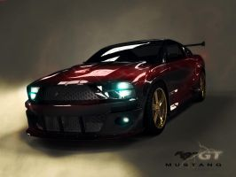 ford mostang red light by teamgandaia3