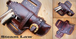 Kenyan Cowboy Holster by rosewolfartisans