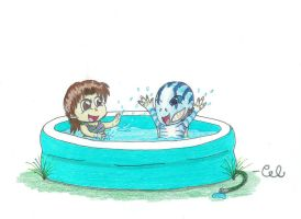 Pool Time With Abe by Transformersfan4ever