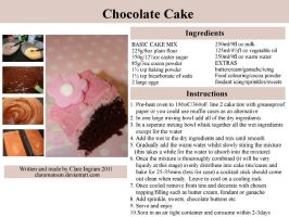 Chocolate Cake Recipe by claremanson