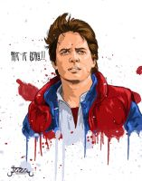 Marty Mcfly this is heavy by JaZaDesign