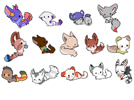 Micro chibi pack by Magicpawed